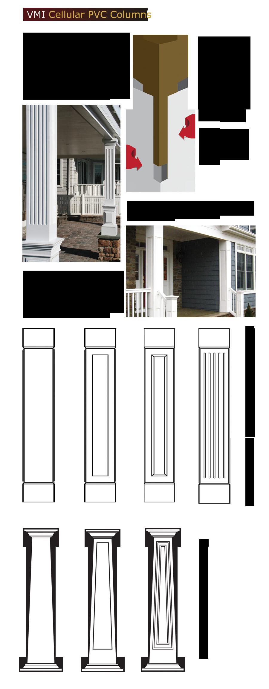 Cellular PVC Columns